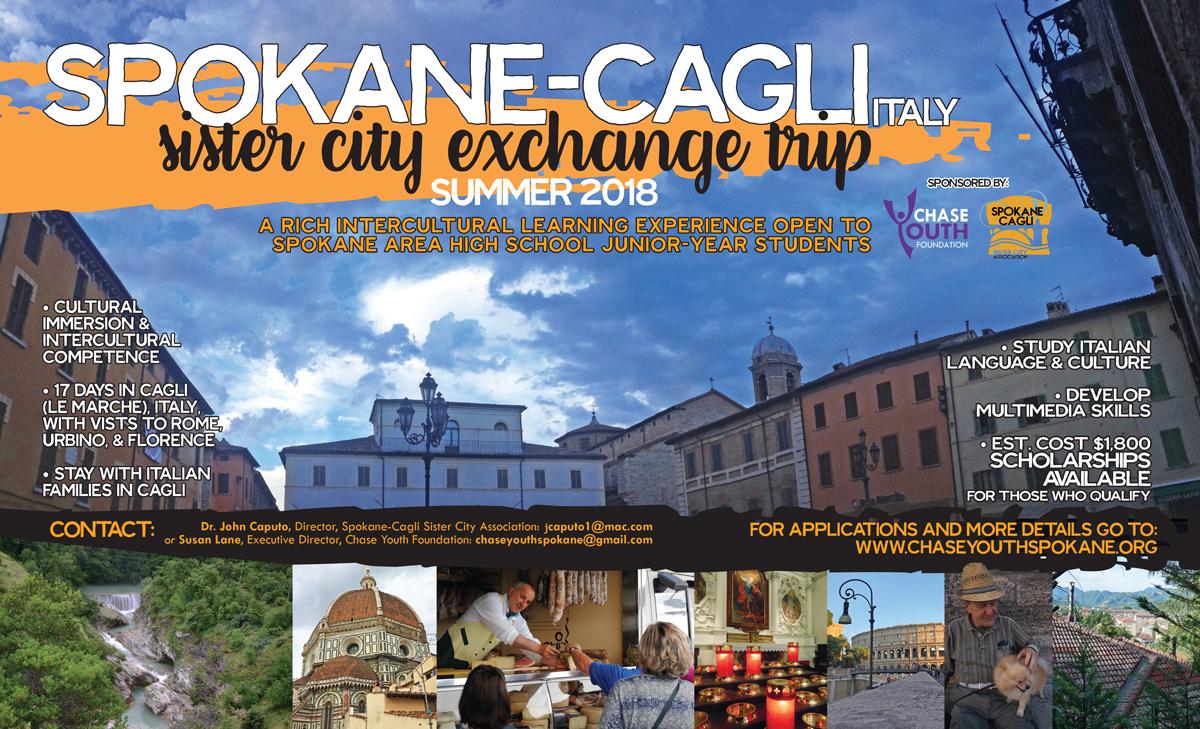 Spokane-Cagli Student Exchange Trip Poster